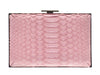 Chanel Python Embossed Velvet Box Clutch - Designer Vault - 3