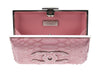 Chanel Python Embossed Velvet Box Clutch - Designer Vault - 6