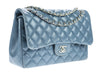 Chanel Slate Blue Lambskin Jumbo Double Flap Bag - Designer Vault - 2