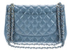Chanel Slate Blue Lambskin Jumbo Double Flap Bag - Designer Vault - 3