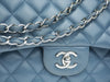 Chanel Slate Blue Lambskin Jumbo Double Flap Bag - Designer Vault - 6