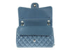 Chanel Slate Blue Lambskin Jumbo Double Flap Bag - Designer Vault - 7