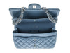 Chanel Slate Blue Lambskin Jumbo Double Flap Bag - Designer Vault - 8