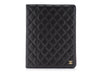 Chanel Black Leather IPad Case - Designer Vault