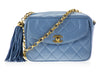Chanel Vintage Blue Camera Bag - Designer Vault - 1