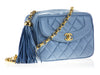 Chanel Vintage Blue Camera Bag - Designer Vault - 2