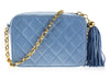 Chanel Vintage Blue Camera Bag - Designer Vault - 4