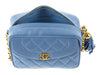 Chanel Vintage Blue Camera Bag - Designer Vault - 6