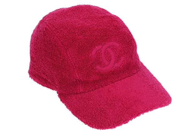 Chanel Pink Terry Cloth CC Baseball Cap