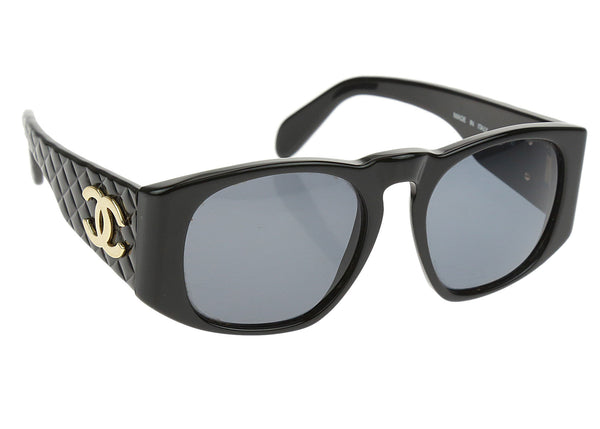 Chanel Vintage Black 0003 Oversized Sunglasses