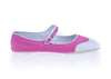 Chanel Pink Mary Jane Perforated Ballet Flats Size 41 - Designer Vault - 1