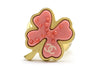 Chanel Pink Four Leaf Clover Ring - Designer Vault - 1