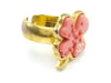 Chanel Pink Four Leaf Clover Ring - Designer Vault - 2