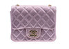 Chanel Metallic Goatskin Quilted Pink Mini Flap Bag - Designer Vault - 1
