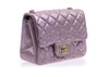 Chanel Metallic Goatskin Quilted Pink Mini Flap Bag - Designer Vault - 2