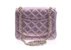 Chanel Metallic Goatskin Quilted Pink Mini Flap Bag - Designer Vault - 3