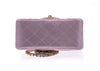 Chanel Metallic Goatskin Quilted Pink Mini Flap Bag - Designer Vault - 4