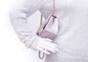 Chanel Metallic Goatskin Quilted Pink Mini Flap Bag - Designer Vault - 6
