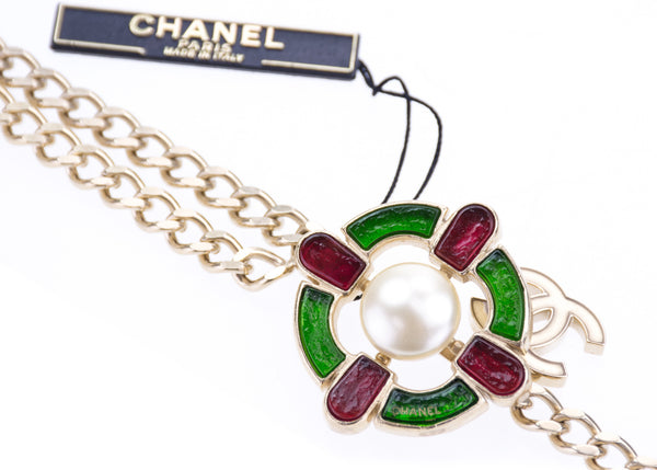 Chanel 07A Gripoix Faux Pearl Belt