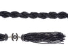 Chanel Black Beaded Rope Belt