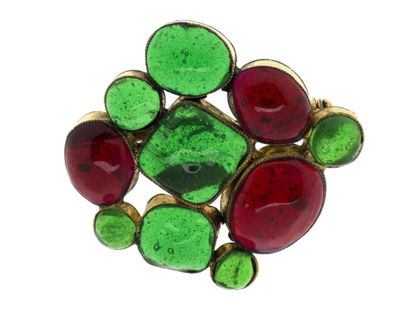 Chanel Early Vintage Glass Brooch