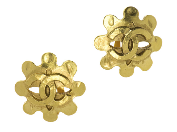 Chanel Gold Abstract Earrings