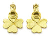 Chanel Gold Clover Logo Earrings
