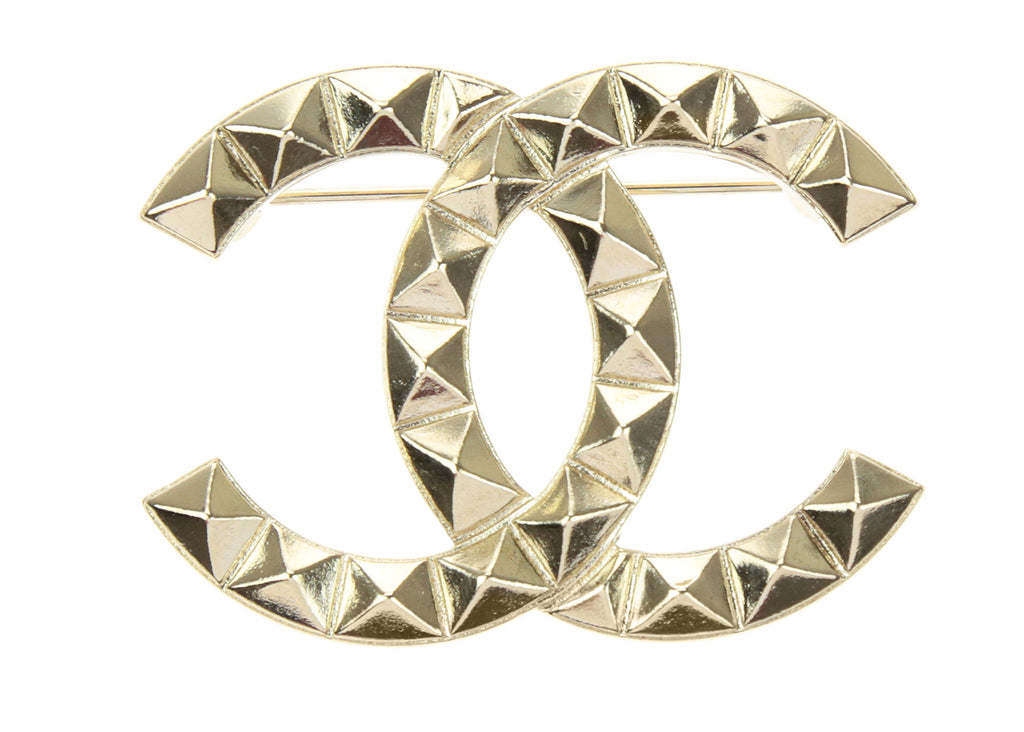 luxe cc woman ref white jewellery enamel chanel brooch instant large