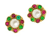Chanel Gripoix Faux Pearl Clip On Vintage Earrings