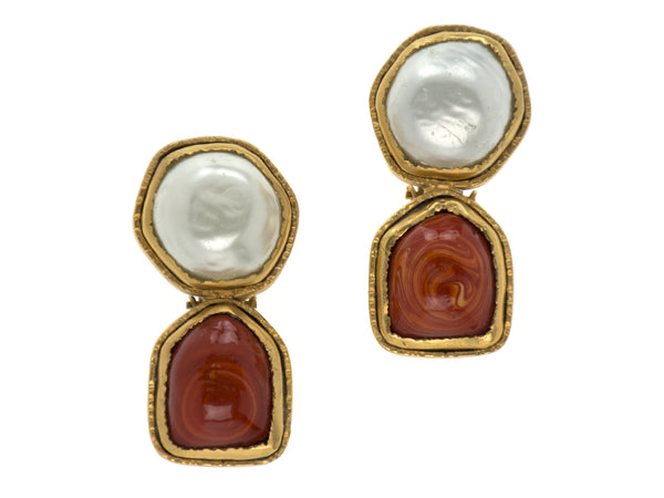Chanel Gripoix Vintage Earrings
