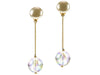 Chanel Lucite Ball Pearl Drop Earrings