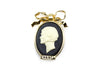 Chanel Mademoiselle Black Brooch