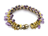 Chanel Purple Teardrop Glass Bracelet