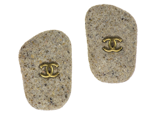 Chanel Sand Vintage Earrings