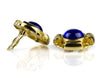 Chanel Vintage Blue CC Round Earrings