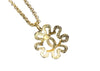 Chanel Vintage CC Logo Sunburst Gold Necklace