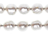 Chanel Vintage Faux Pearl Silver Necklace