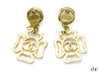 Chanel Vintage Four Leaf Earrings