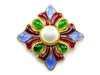 Chanel Vintage Glass Pearl Four Point Brooch