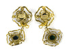 CHANEL VINTAGE GOLD DANGLING EARRINGS