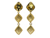Chanel Vintage Gold Quilted Earrings