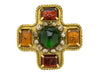 Chanel Vintage Gripoix Cross Brooch