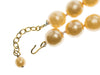Chanel Vintage Oversized Faux Pearl Orange Necklace