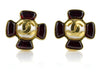 Chanel Vintage Pearl CC Clip-On Gripoix Earrings
