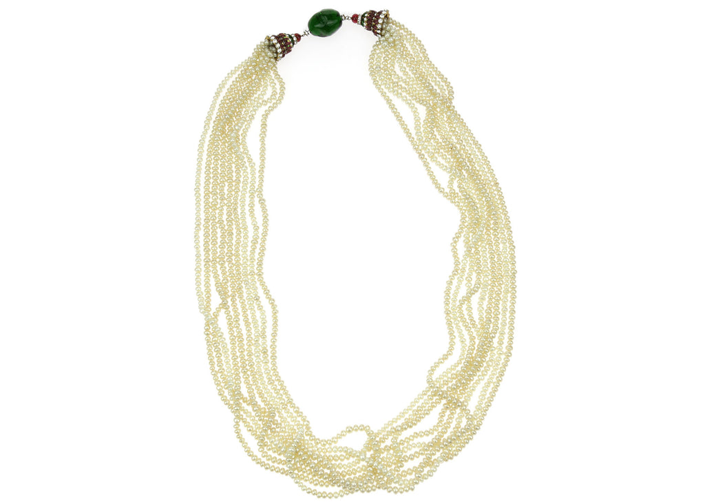 Chanel Vintage Pearl Gripoix Crystal Necklace | Chanel Consignment ...
