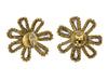 Chanel Vintage Rhinestone Flower Earrings