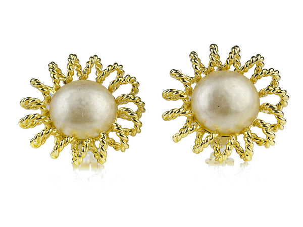 Chanel Vintage Season 25 Pearl Earrings