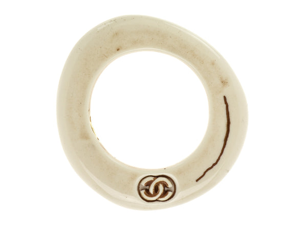 Chanel Vintage White Resin Bangle