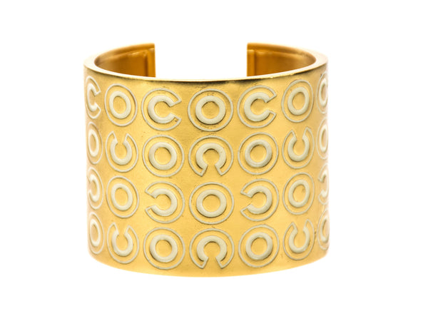 Chanel Wide Gold Coco Cuff