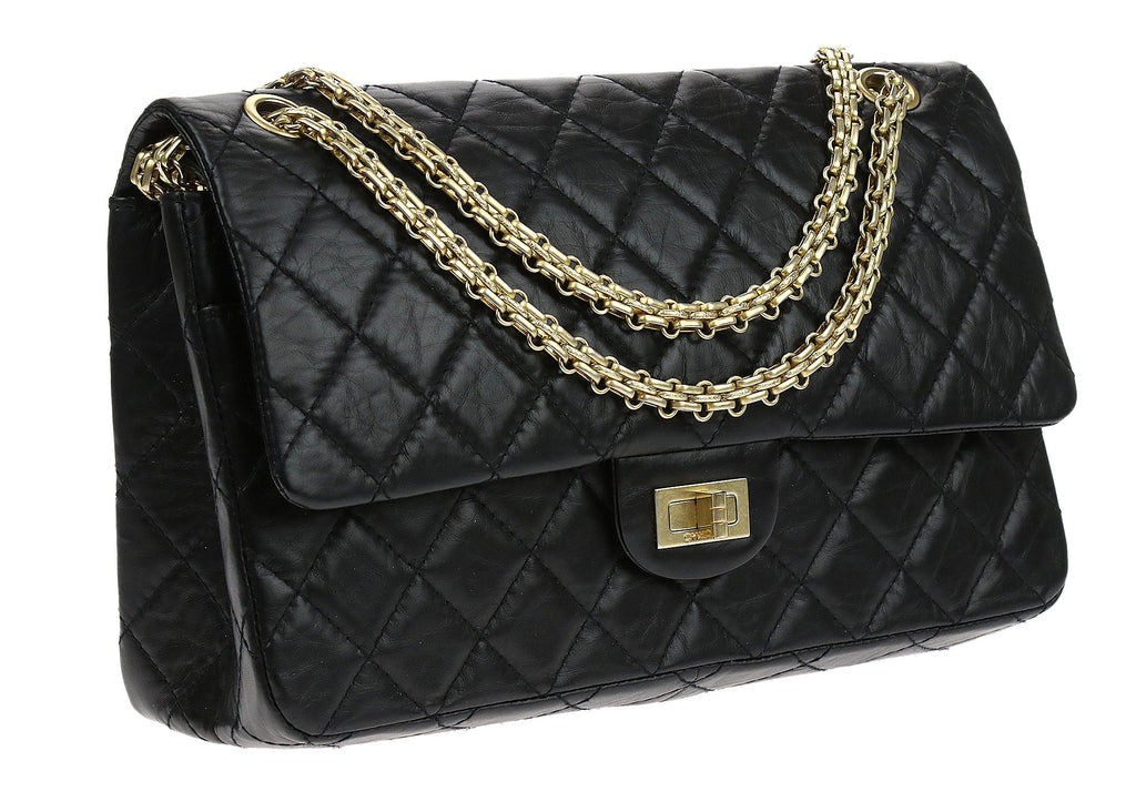 chanel 2 55 reissue. chanel black distressed lambskin quilted 2.55 reissue double flap bag 226 2 55